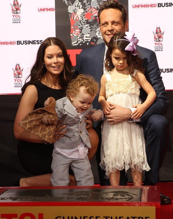 Kyla Weber, Vernon Lindsay Vaughn, Lochlyn Kyla Vaughn, and actor Vince Vaughn