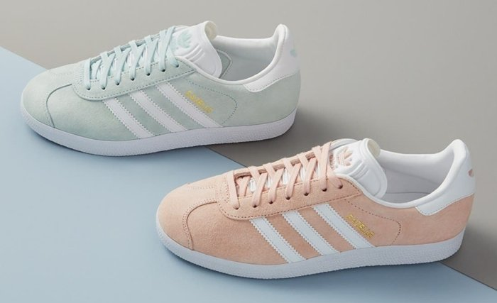 Initially designed as a training shoe for top athletes in 1991, the iconic Gazelle sneaker has been refreshed with a sleek, narrower silhouette but retains the classic contrasting 3-Stripes and heel tab of the original, and is presented in throwback archival hues