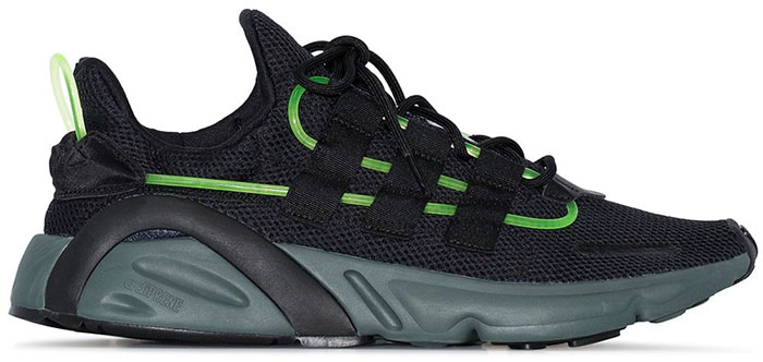 Black and green Lxcon Dart frog sneakers from Adidas