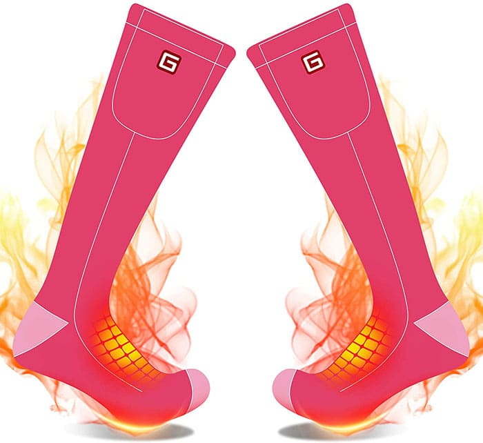 Battery powered heating socks with long working hours