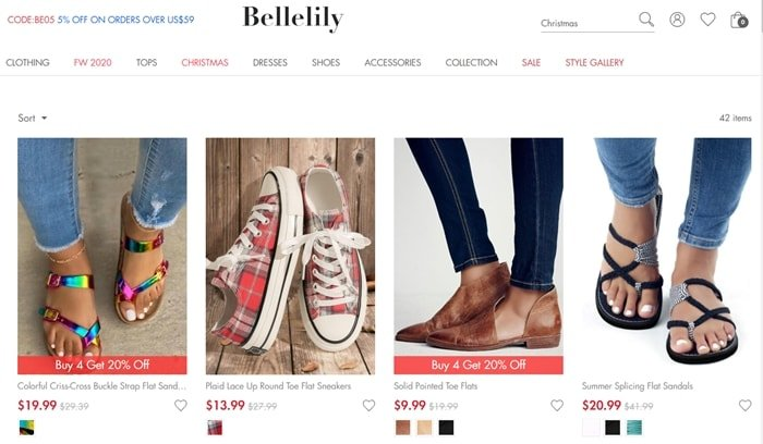 Bellelily steals product images from other websites