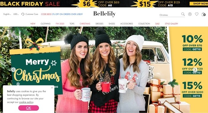 Bellelily is a Chinese scam website targeting American consumers