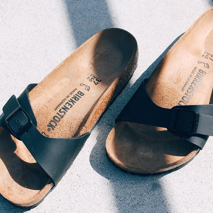 The Birkenstock Madrid sandals are famous for their ability to stay on your feet as you walk