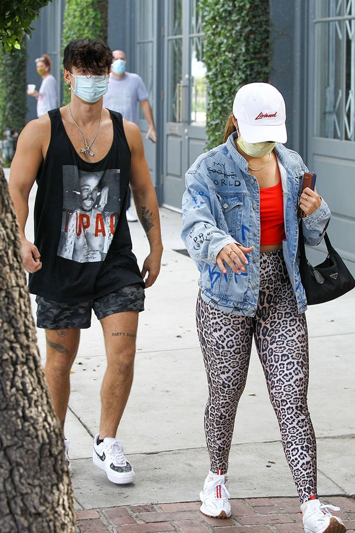 Bryce Hall and Addison Rae heading to a gym in Los Angeles on November 3, 2020
