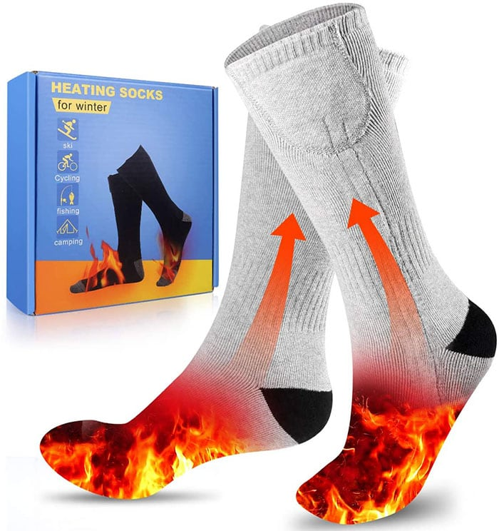 These socks are great to keep your feet warm when outside