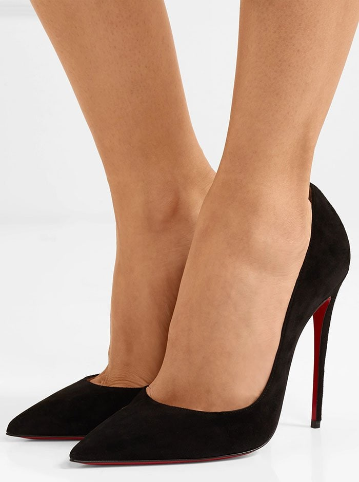 Christian Louboutin's iconic 'So Kate' pumps are defined by their pointed toe and thin stiletto heel