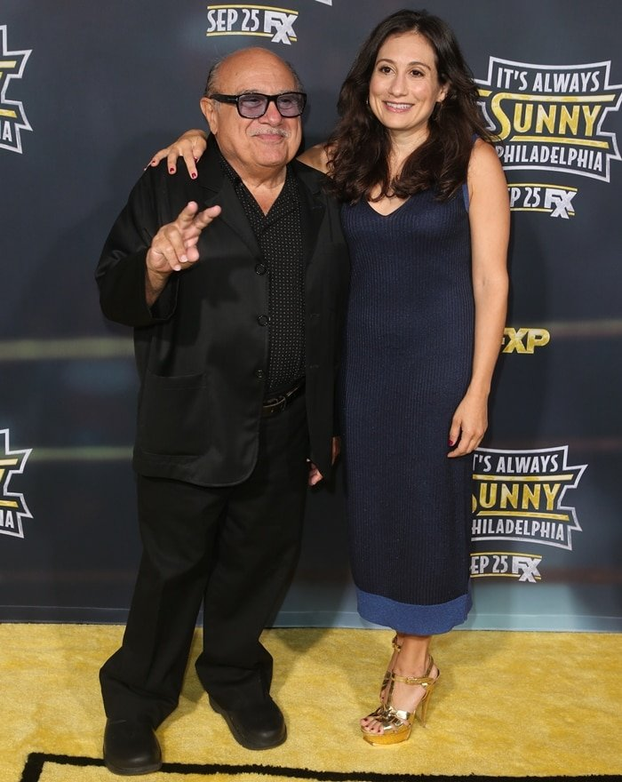 Danny DeVito posing with his daughter, American actress Lucy Chet DeVito