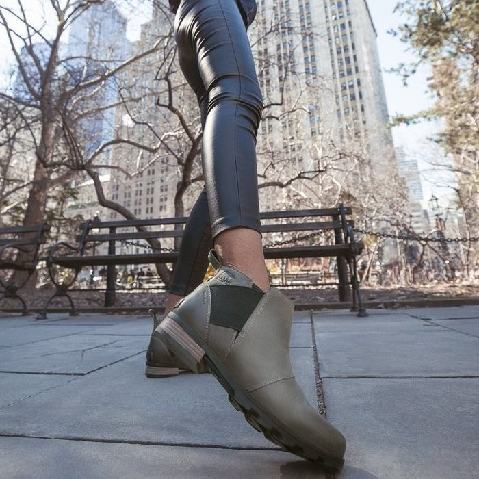 The lux look of the waterproof Sorel Emelie Chelsea boot will keep you in style all season long in all kinds of weather