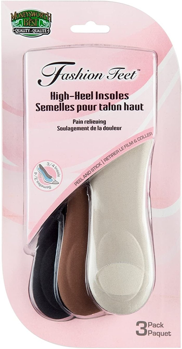 Ultra-slim insoles for high heels, open-toed shoes, and sandals