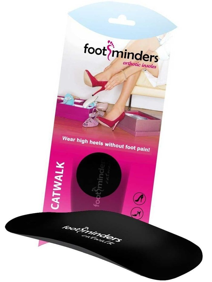 Footminders Catwalk orthotic insoles provide the ultimate in walking comfort for women who suffer from foot pain as a result of wearing high-heeled shoes or other fashion footwear