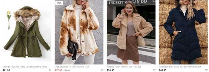Romwe has been penalized for selling real animal fur as faux fur