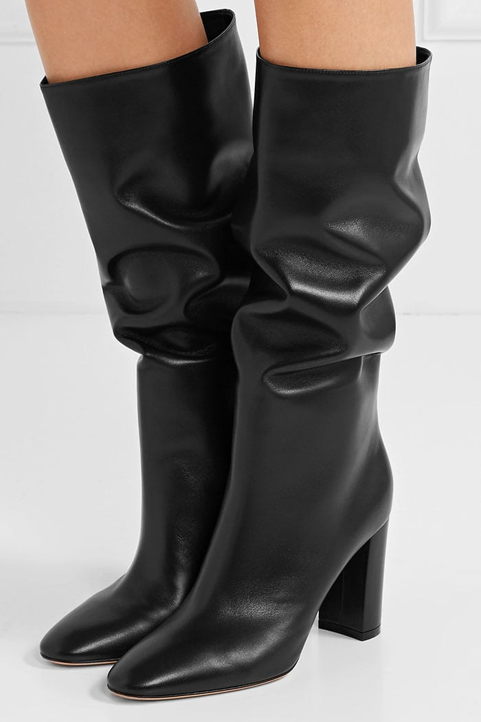 Gianvito Rossi's 'Laura' knee-high boot has been made in Italy from supple leather and is set on a comfortable block heel