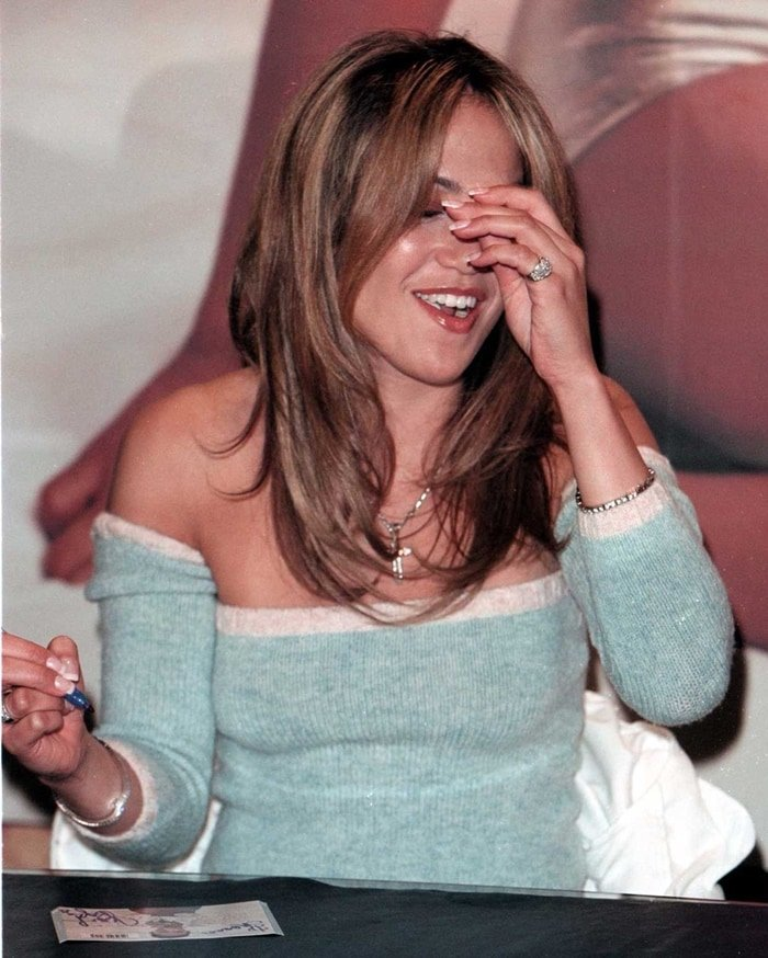 Jennifer Lopez celebrates the release of her debut album in 1999