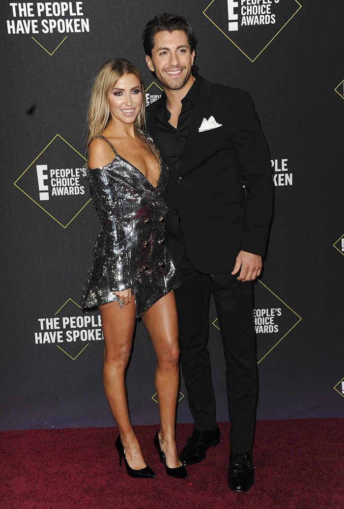 Kaitlyn Bristowe, dressed in Bao Tranchi frock, is currently dating The Bachelorette 14 contestant Jason Tartick