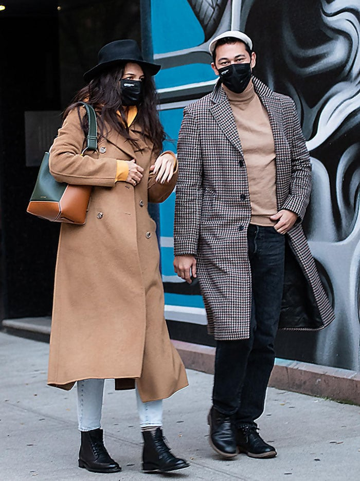 Katie Holmes and chef boyfriend Emilio Vitolo stroll around Manhattan's SoHo neighborhood on November 3, 2020