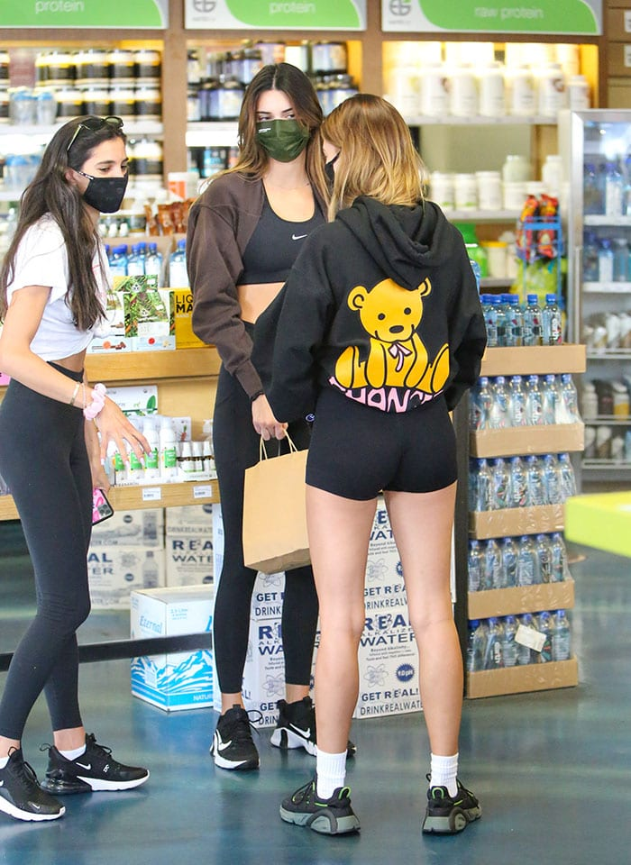 Hailey Bieber and Kendall Jenner showcase their toned, endless legs