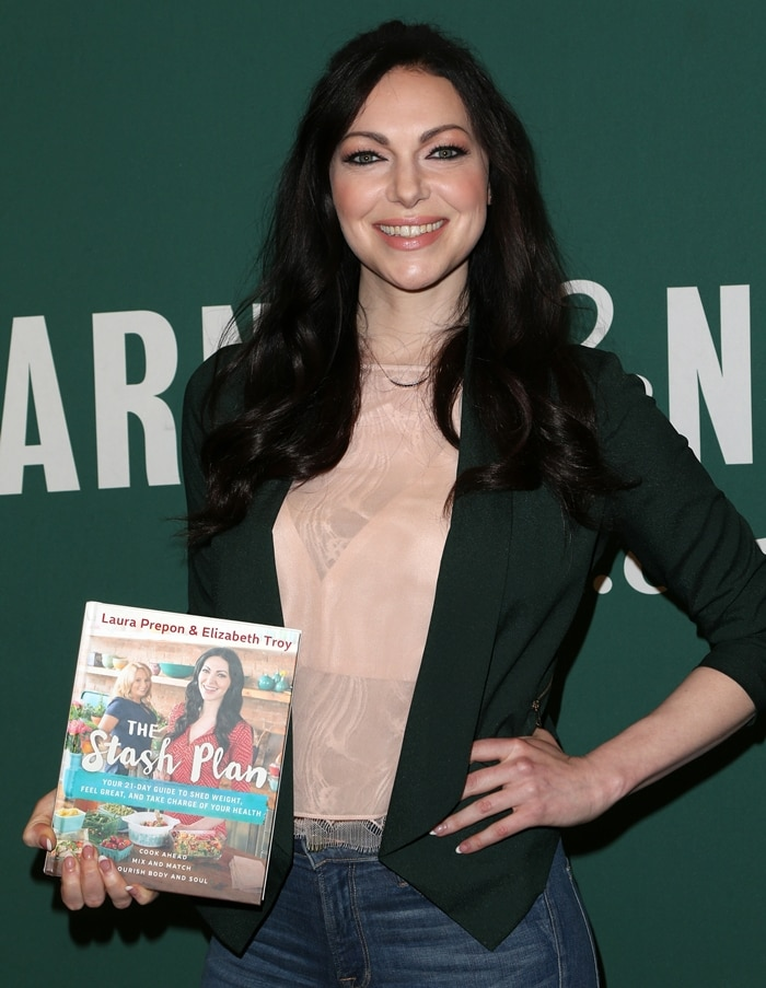 Laura Prepon promotes her book The Stash Plan: Your 21-Day Guide to Shed Weight, Feel Great, and Take Charge of Your Health