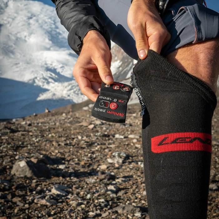 Heated socks from Austrian maker Lenz feature high-end design and great battery life