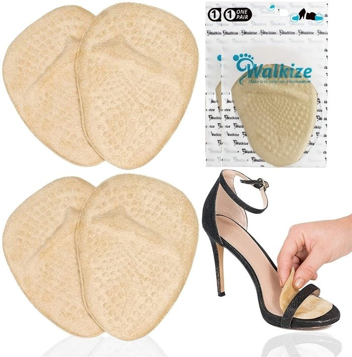 With these soft, gel-based, and cloth-covered high heel inserts you can finally enjoy your day free from foot pain