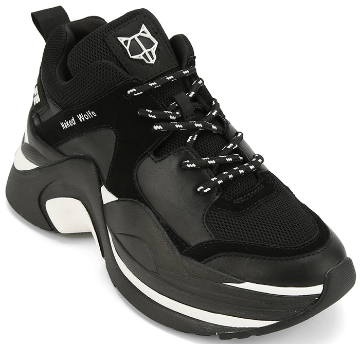 Naked Wolfe Track Double Black Sneakers