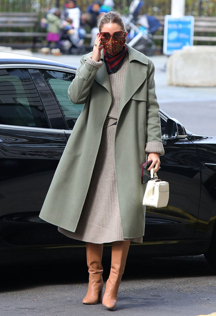 Olivia Palermo steps out to cast her vote in Brooklyn, New York City on November 3, 2020