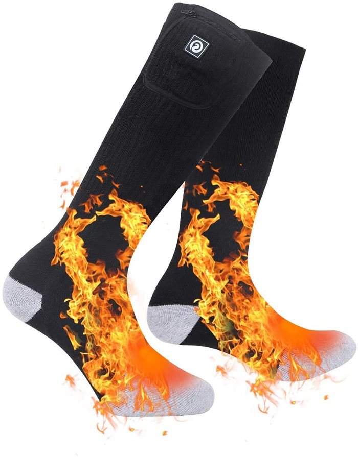 Heating socks with super comfortable, thick and well padded