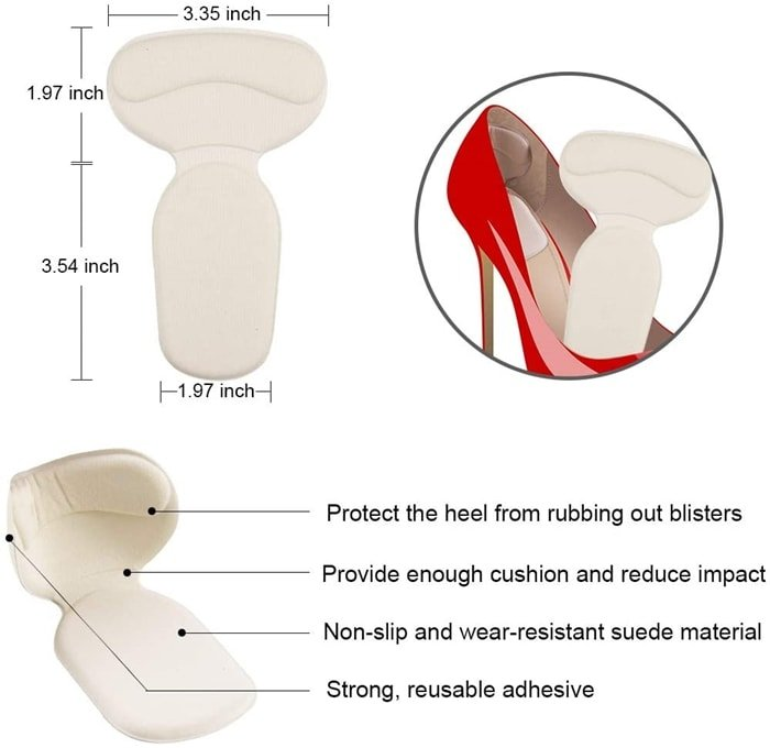 These heel pads stickers and heel cushions are designed for those who have a feet pain, blister or callus, and prevent shoes mangle your feet