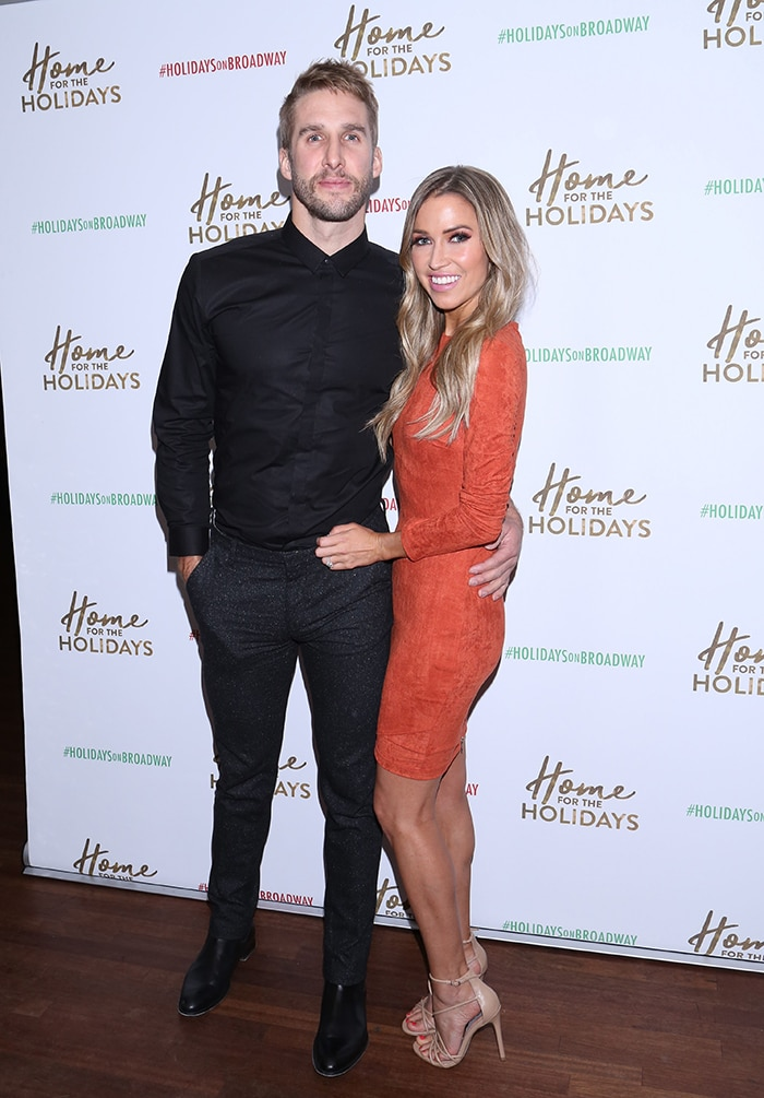 Kaitlyn Bristowe with her ex-fiance Shawn Booth at the Home for the Holidays party on November 22, 2017