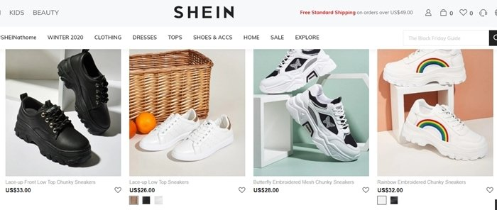 Many shoes and products sold on Shein are knock offs and counterfeits