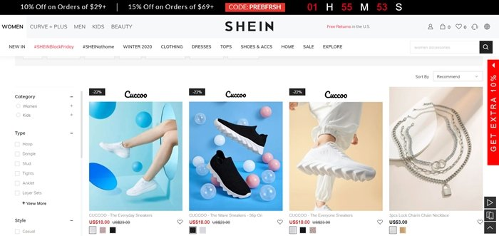 Sheinsider changed its name to Shein in 2015