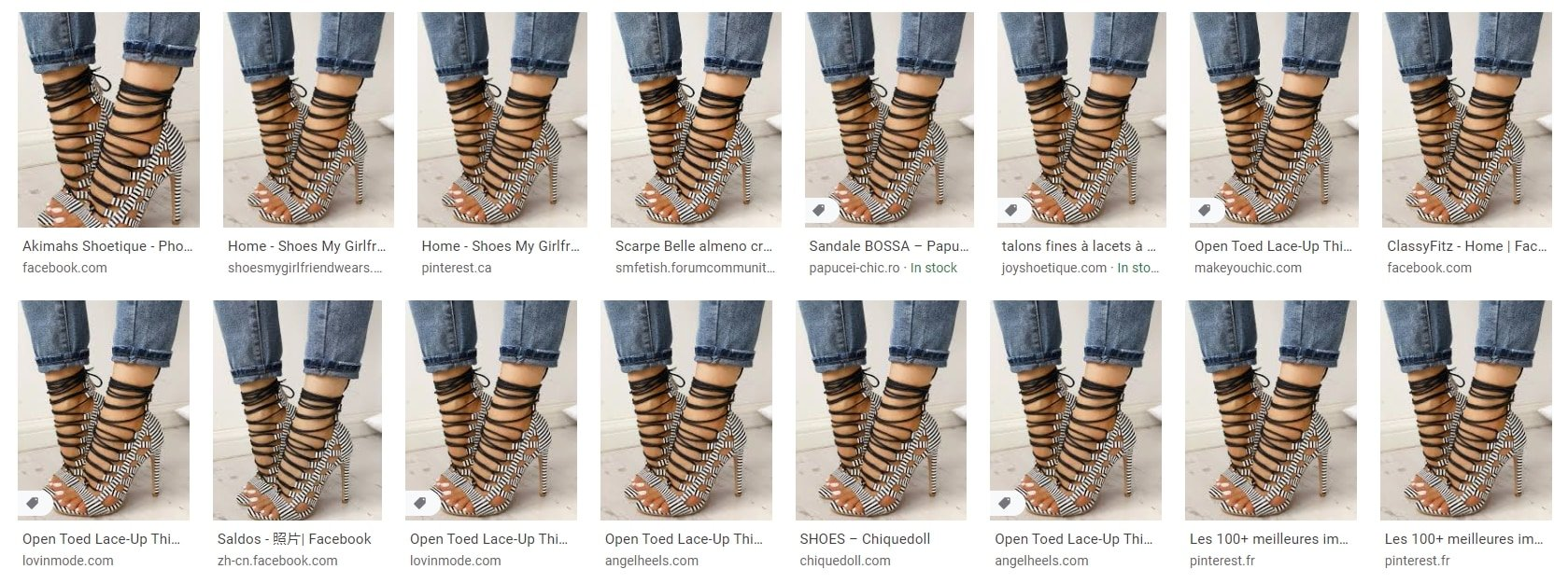 The product images used on Chic Me and IVRose are also used by many other websites