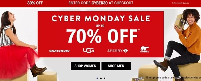 Shoes.com Cyber Monday 2020