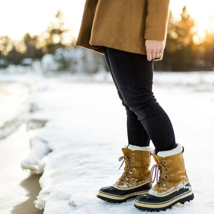 The classic Sorel Caribou winter boots provide legendary warmth and protection in cold, snowy conditions