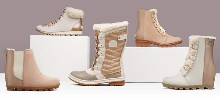 Plush fur and fleece lining with sophistication and insulation make Sorel snow boots winter essentials