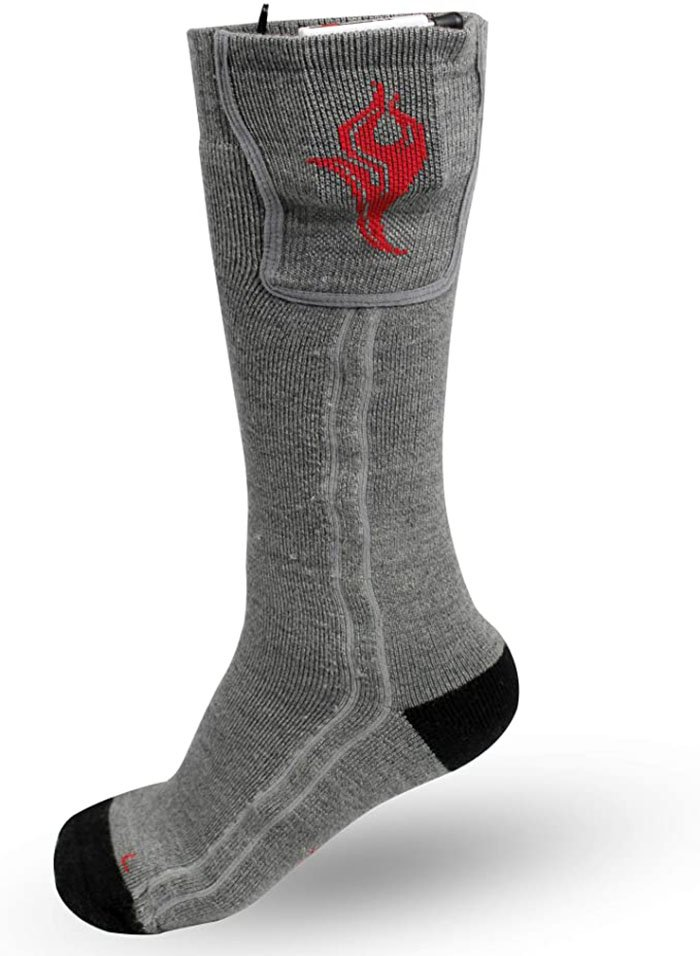 These heated wool-blend socks are great for cycling on a bike or riding a motorcycle
