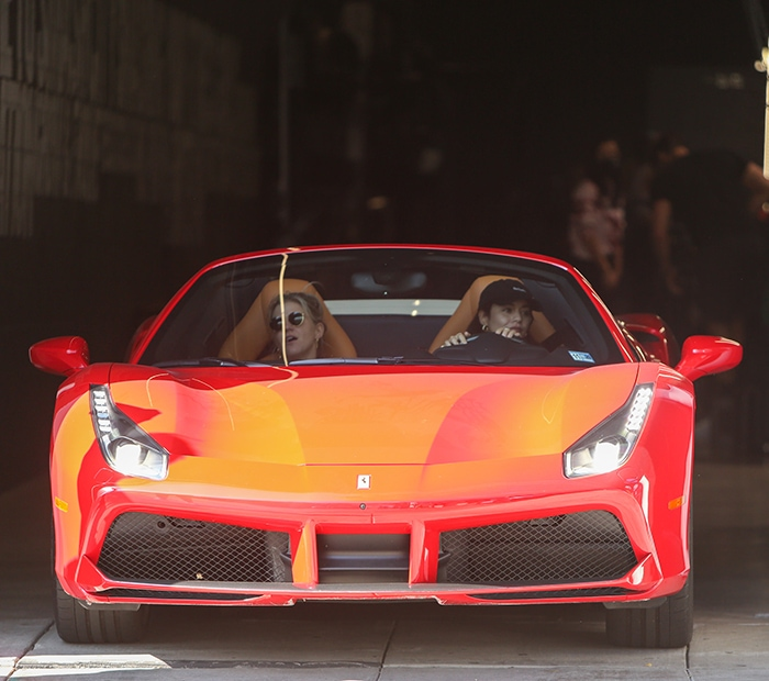 Vanessa Hudgens brings her new Ferrari out with her DJ friend GG Magree