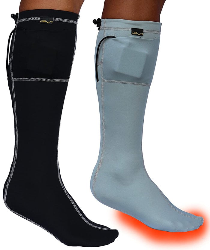 These heated socks provide up to 10 hours of soothing warmth to help rejuvenate numb toes and cold, tired feet
