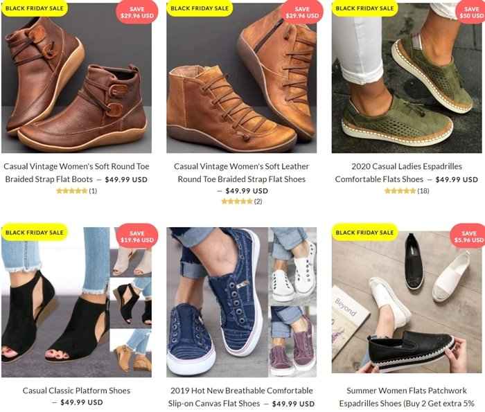 Yokest steals images from other retailers and does not stock the shoes that are sold on its website