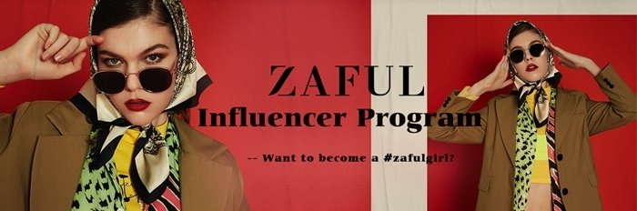 Zaful pays bloggers and influencers a commission of 30% to promote their website