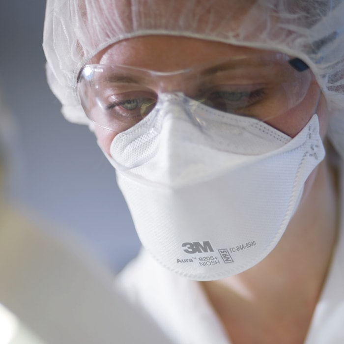 The 3M 9205+ masks are individually wrapped to help protect the mask from contamination before usage
