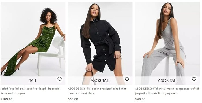 "If you're 5'9""/1.75m or over, browse ASOS' collection to embrace longer lengths and better proportions"