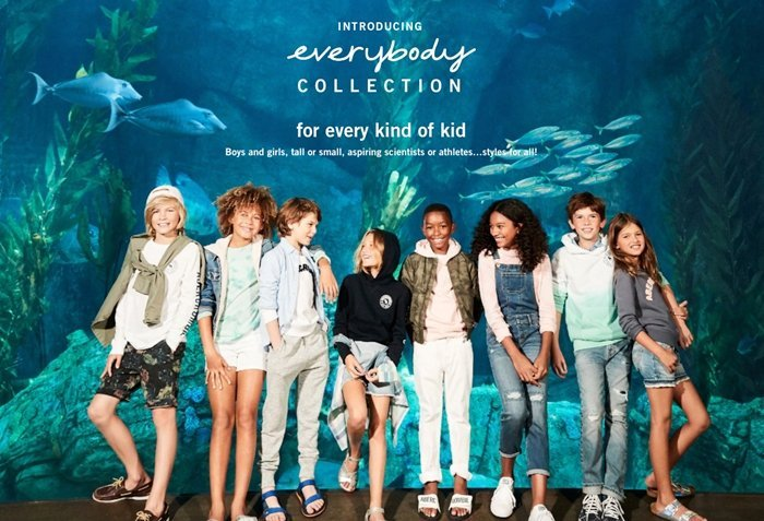 """Abercrombie & Fitch has a gender-neutral kids assortment called the """"Everybody Collection"""""""