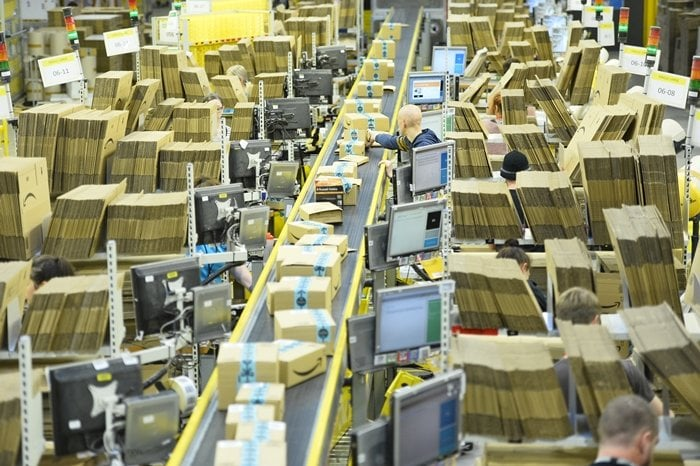 Amazon's Dunfermline warehouse on Black Friday, which is one of the busiest times of the year for the online retailer