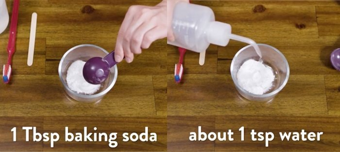 DIY method using baking soda and water