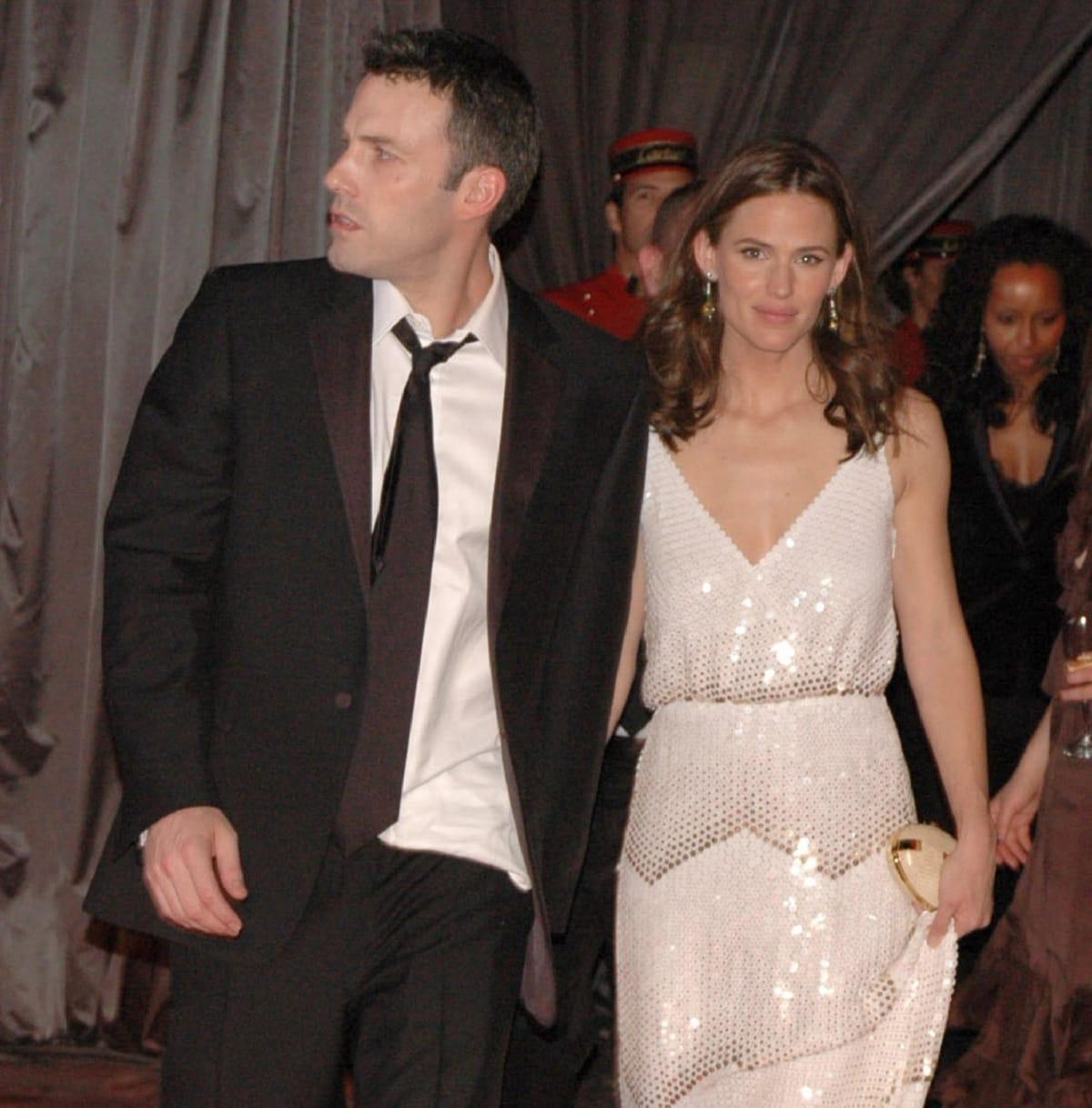 Ben Affleck and Jennifer Garner at a Golden Globes Party