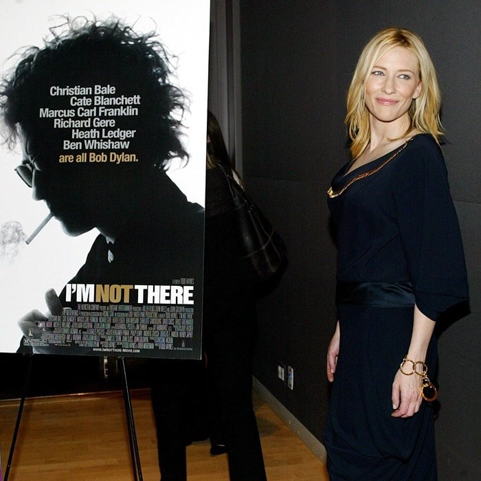 """One of six actors to play the role of Bob Dylan, Cate Blanchett attends the 45th New York Film Festival - """"I'm Not There"""" premiere"""