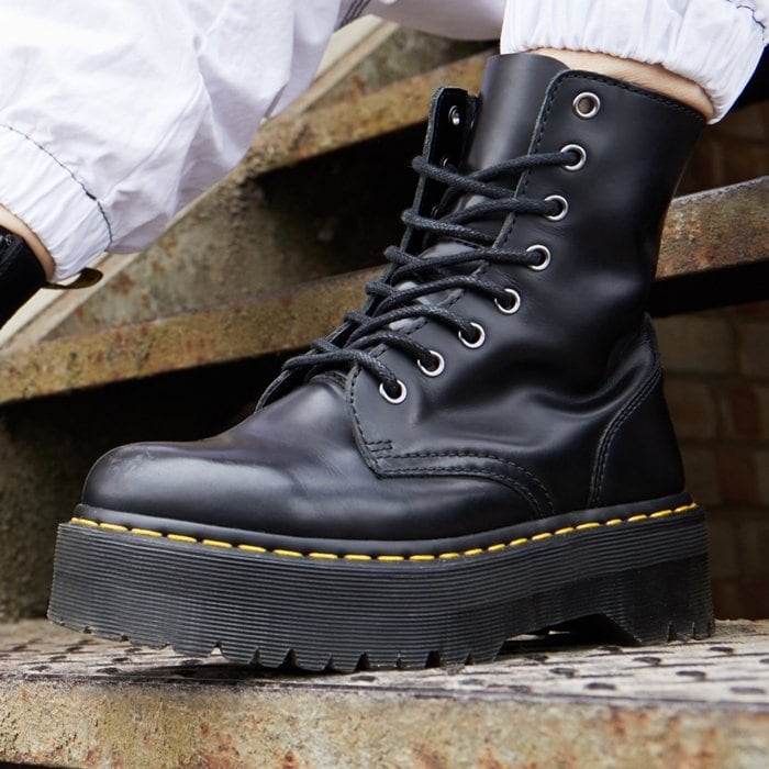 Tower above your peers in the vertigo-inducing style of the Jadon 8-Eye Boot by Dr. Martens