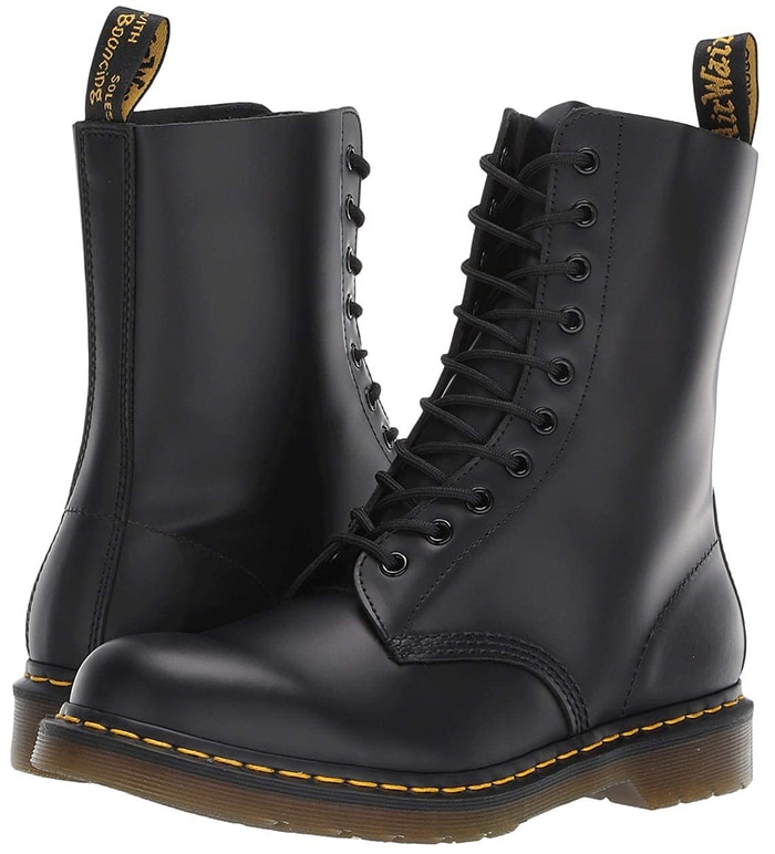 The 1490 10-Eye lace-up boot from Dr. Martens is an original classic that will live never go out of style