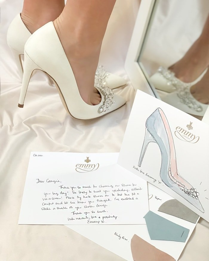 Emmy London offers custom handmade women's shoes for weddings and other special events