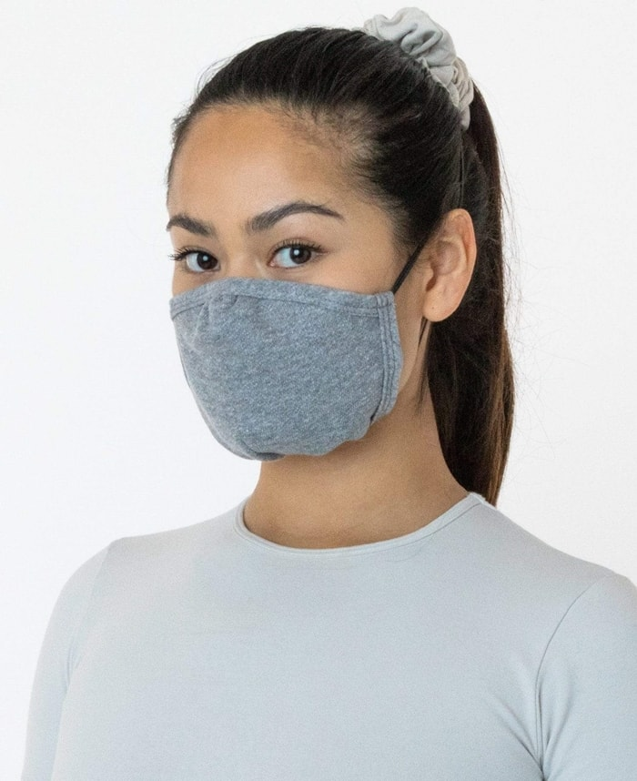 This face mask is made of 100% cotton and features an adjustable nose that you can form to the contours of your face